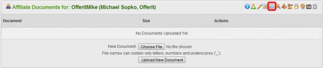 Uploading Affiliate Documents to Offerit